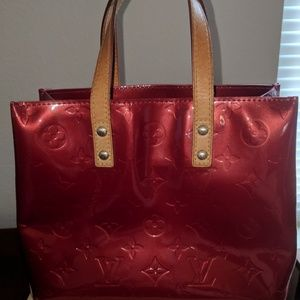 Louis Vuitton Vernis Red Patent Leather Small